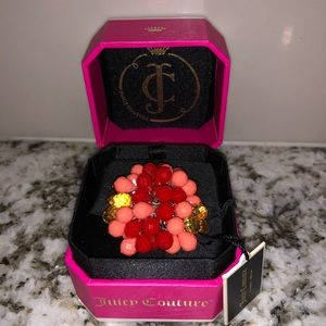 Juicy couture briolette cluster ring